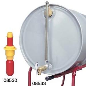 Justrite 08533, Horizontal Cast Iron Drum Fill Gauge & Faucet Kit