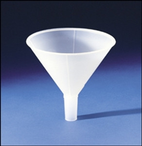152mm Powder Funnel, Autoclavable polypropylene, case/12