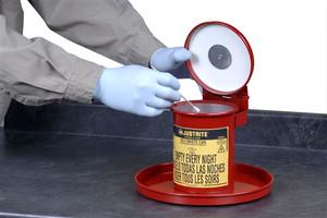 Justrite 09400 Portable .45 gallon Bench Top Solvent Can
