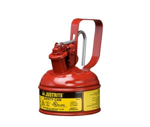 Justrite 10001 Type I Steel Safety Can, 1 Pint