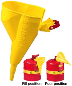 Justrite 11202Y Funnel, Attachments for Type I Steel Safety Cans 11202Y