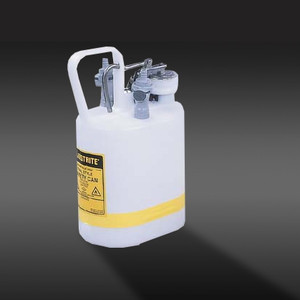 Justrite 1 gal Centura Quick-Disconnect Safety Can, PP Fittings