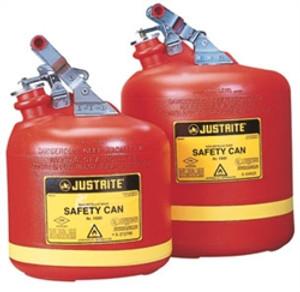 Justrite 2.5 gal Polyethylene Type I Safety Can w/ Steel Hardware