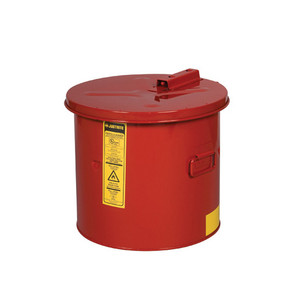 Justrite Steel Dip Tank, Manual Cover and Fusible Link, 3.5 gallon, Red