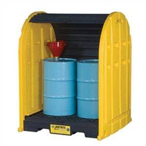 Justrite 28675 2 Drum Containment Poly Storage Sheds