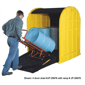 Justrite 28676 4 Drum Containment Poly Storage Sheds