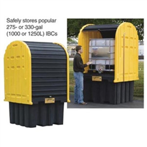 Justrite 28677 Outdoor IBC Storage Shed and Secondary Containment