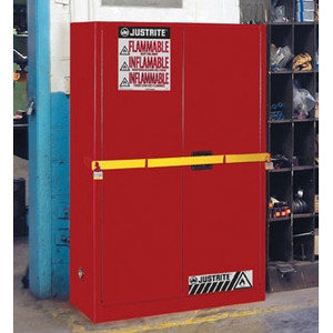 Justrite 45 gal High Security Flammable Safety Cabinet red manual