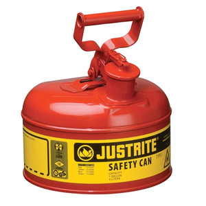Justrite 7110100 Type I Steel Safety Can, 1 gallon