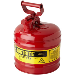 Justrite 7120100 2 gallon Steel Safety Can