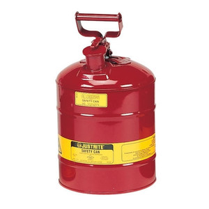 Justrite 7125100 Type I Safety Can, 2.5 gallon, Steel