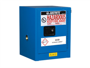 Justrite EX Countertop HazMat Safety Cabinet, 4 Gal, Self Closing Door