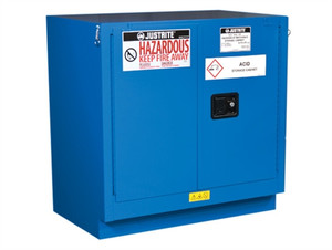 Justrite ChemCor Undercounter HazMat Safety Cabinet, 22 gal, 2 Self-close Doors