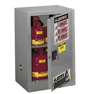 Justrite 891203 Flammable Compac Cabinet, 12 gallon gray manual