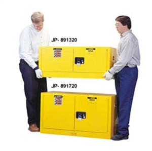 Justrite 891320 Flammable Piggyback Cabinet, 12 gallon self-closing