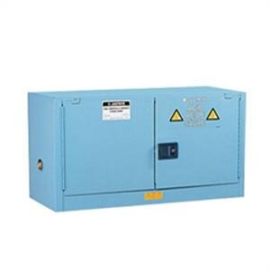 Justrite Acid Piggyback Cabinet, 12 gal, ChemCor Liner blue self-closing