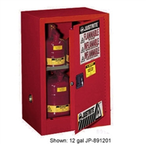Justrite 891501 Flammable Compac Cabinet, 15 gallon red manual