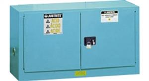 Justrite Acid Piggyback Cabinet, 17 gal, ChemCor Liner blue manual