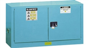 Justrite Acid Piggyback Cabinet, 17 gal, ChemCor Liner blue self- close