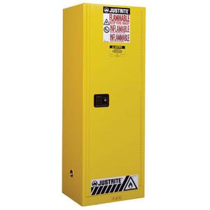 Justrite Manual Slimline Flammable Cabinet, 22 gallon, Choose Color