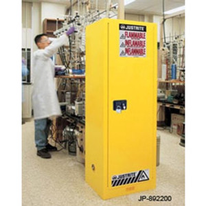 Justrite 892220 Slimline Flammable Cabinet, 22 gallon self-closing