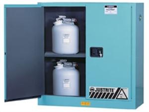 Justrite Acid Cabinet, 30 gal, ChemCor Liner blue manual