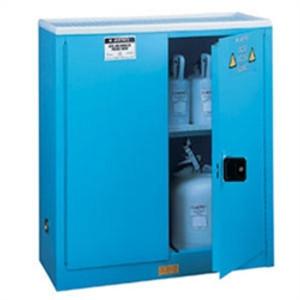 Justrite Acid Cabinet, 45 gal, ChemCor Liner blue, self-closing