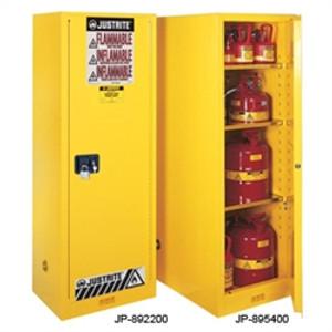 Justrite Flammable Cabinet, 54 gal Deep Slimline, self-closing