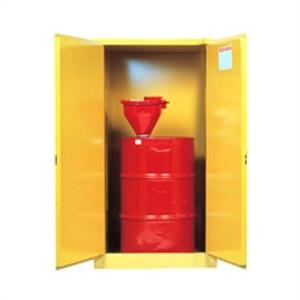 Justrite Flammable Drum Cabinet, 55 gal, self-closing