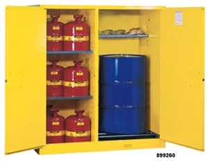 Justrite Flammable Cabinet for drums, Safety Cans, manual