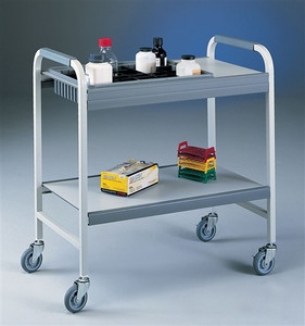 "Labconco 8010000 Lab Cart, Utility Cart, Flexi-Bin Epoxy-coated Steel, 4"" bin"