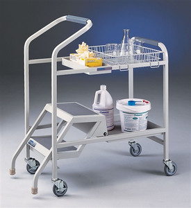 Labconco 8021000 Lab Cart, Stockroom Cart with Built-in Step Ladder