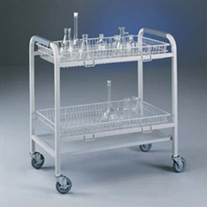 Labconco 8032500 Lab Cart, Glassware Laboratory Cart with 2 Baskets