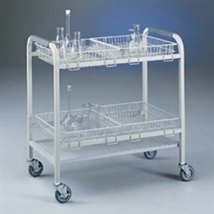 Labconco 8045000 Lab Cart, Glassware Laboratory Cart with 4 Baskets