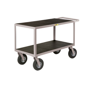 Little Giant GF-2448-9PM Flat-Handle Instrument Cart, Non-Slip, 24 x 48