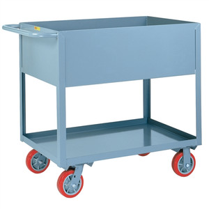 Deep Sided Rolling Utility Cart, Industrial Strength, 24 x 36