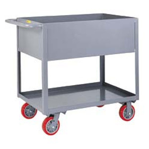 "Little Giant DS1830X12-5PY Utility Cart, 12"" Deep Sides, Heavy Duty"