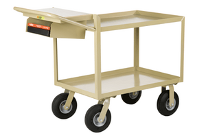 Little Giant GL-2436-9P-WSP Instrument Cart, Lip Shelves, Pocket, 24 x 36
