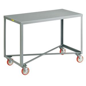 "Little Giant Mobile Work Bench, Single Shelf Table, Steel, 24 x 60"""