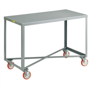 "Little Giant Mobile Work Bench, Single Shelf Table, Steel, 30 x 72"""