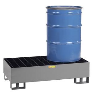 Little Giant Steel Spill Pallet, Steel, 2 drums, w/ 33 gal sump
