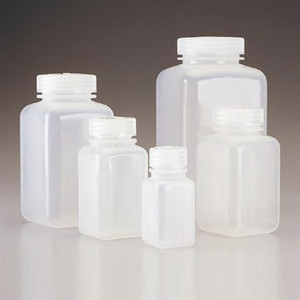 Nalgene 2110-0006 Square Bottle, Wide-Mouth, PPCO, 5oz (175mL), case/72