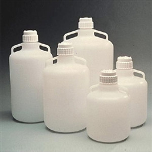 Nalgene Carboy with Handles, 83B 20 Liter LDPE, Labware, case/4