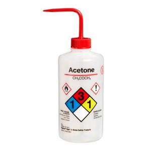 Nalgene Labeled Wash Bottle, 500mL, Acetone, case/24