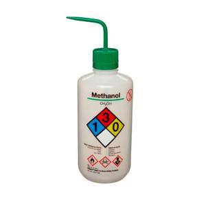 Nalgene Labeled Wash Bottle, 500mL, Methanol, case/24
