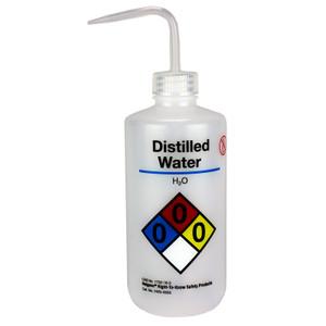 Nalgene Labeled Wash Bottle, 500mL, Distilled water, case/24