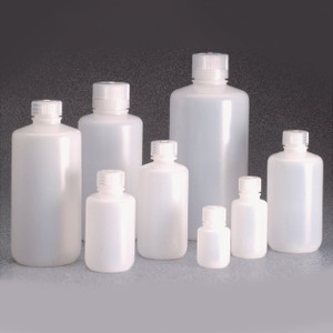Nalgene Bulk, Boston Round Bottle, 32oz (1 L) HDPE, 38-430, case/50