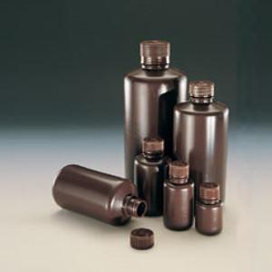 Nalgene Bulk Amber Boston Round Bottle, 1oz (30mL) Heavy HDPE, case/1000