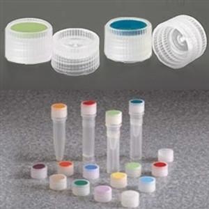 Nalgene 11mm Caps for Micro Vials, Color Coded Insert, Sterile, case/1000