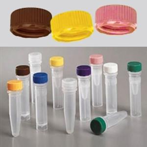 Nalgene 11mm Low Profile Caps for Micro Vials, Sterile, case/1000